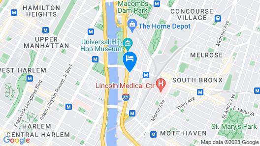 Holiday Inn Express-Bronx Map