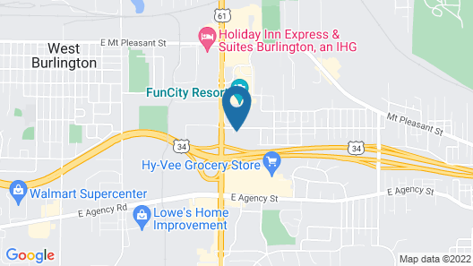 Quality Inn Burlington near Hwy 34 Map