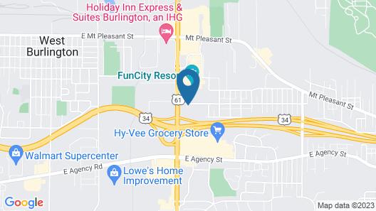 Quality Inn Burlington Map