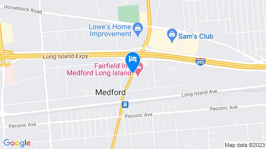 Fairfield Inn by Marriott Medford Long Island Map