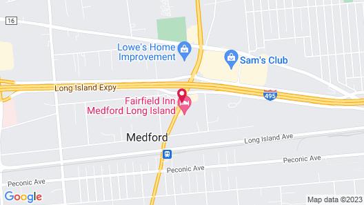 Comfort Inn Medford - Long Island Map
