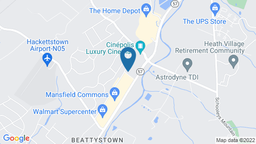 Quality Inn Hackettstown - Long Valley Map