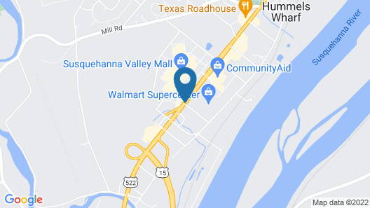 Quality Inn Selinsgrove Map