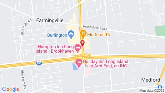 Hampton Inn Long Island-Brookhaven Map