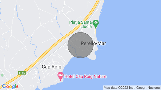 Apartment with Pool and 250 meters from the beach Map