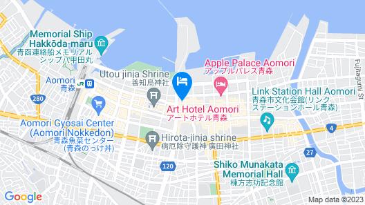ART HOTEL Aomori Map