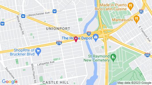 7 Days Hotel Bronx Map