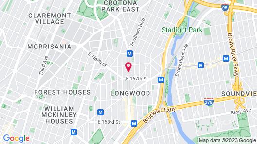 Super 8 by Wyndham Bronx Map