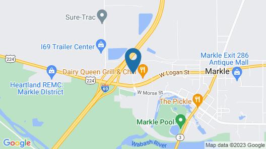 OYO Hotel Markle IN I-69 Map
