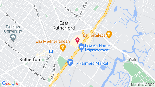 Homewood Suites by Hilton East Rutherford - Meadowlands Map