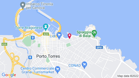 1 Bedroom Accommodation in Porto Torres Map