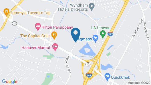 Hyatt House Parsippany/Whippany Map