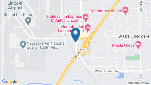 Americas Best Value Inn Lincoln Airport Map