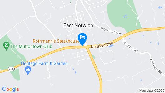 East Norwich Inn-Oyster Bay, Long Island, NY Map