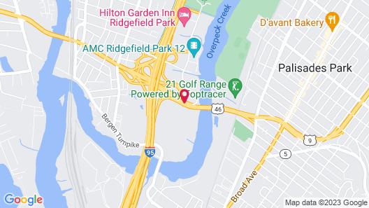 Hampton Inn Ridgefield Park Map