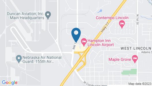 Motel 6 Lincoln, NE - Airport Map