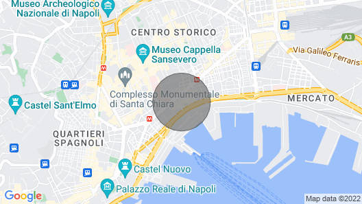 Casa Girò holiday home in the historic center of Naples Map