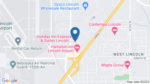 Holiday Inn Express & Suites Airport - Lincoln, an IHG Hotel Map