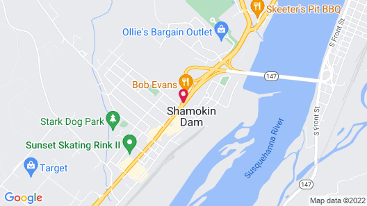 Econo Lodge And Suites Shamokin Dam-Selinsgrove Map