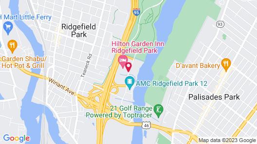 Hilton Garden Inn Ridgefield Park Map