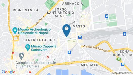 B&B Hotel Napoli Map