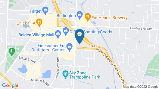 Quality Inn Hall of Fame Map