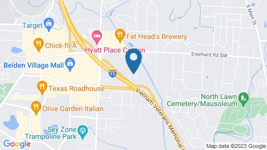 Hampton Inn & Suites Canton Map
