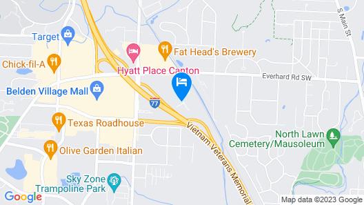 Residence Inn Canton Map