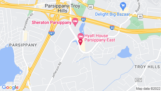 HYATT house Parsippany-East Map