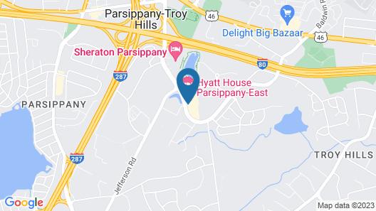 HYATT house Parsippany-East Map