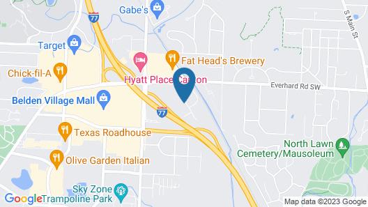 Comfort Inn Hall of Fame Map