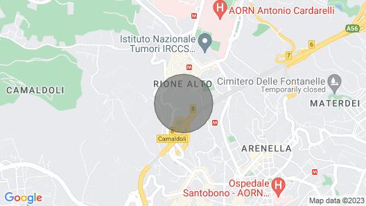 Quiet & Nice flat in Naples Map