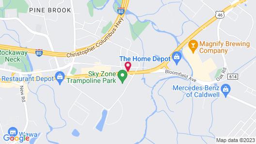 Knights Inn Pine Brook Map