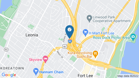 DoubleTree by Hilton Fort Lee - George Washington Bridge Map