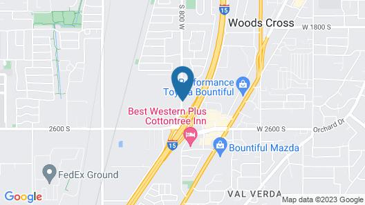 Motel 6 Woods Cross, UT - Salt Lake City - North Map
