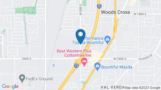 Hampton Inn Salt Lake City North Map