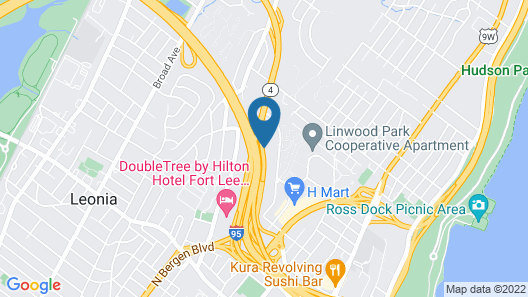 Best Western Fort Lee Map
