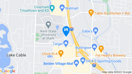 Springhill Suites Canton Map
