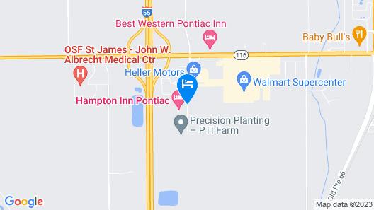 Hampton Inn Pontiac Map