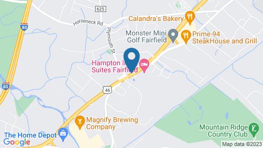 Hampton Inn & Suites Fairfield Map