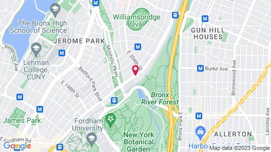 Rodeway Inn Bronx Zoo Map