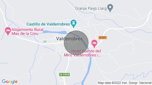 Casa Herrero, Located in the Heart of Matarraña; Valderrobres Map