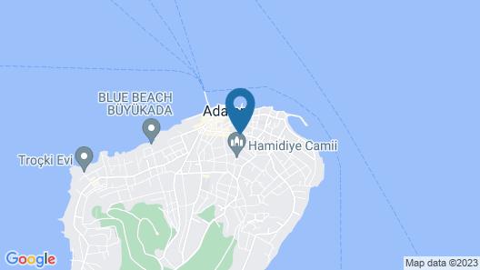 Ascot Hotel Buyukada Map