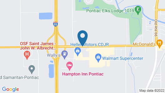 Quality Inn Pontiac Map