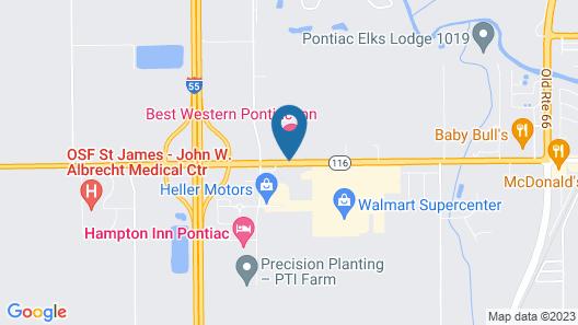 Best Western Pontiac Inn Map