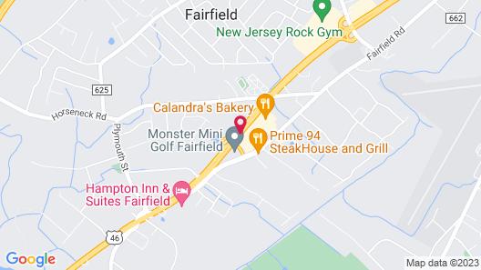 Best Western Plus Fairfield Executive Inn Map