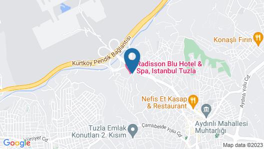 Radisson Blu Hotel & Spa, Istanbul Tuzla Map