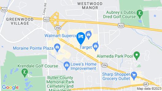 Hampton Inn Butler Map