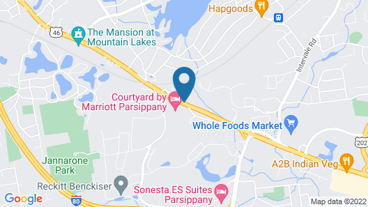 Courtyard by Marriott Parsippany Map