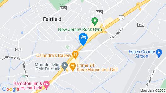 Comfort Inn Fairfield Map